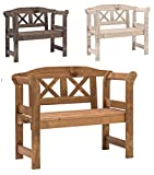 Bomi Echt-Holz Kinderbank Garten Nala | Kindermöbel Gartenbank Holz 2-Sitzer Kirschbaum | Kleine Sitzmöbel für Mädchen Jungen