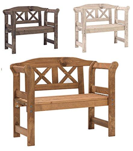 Bomi Echt-Holz Kinderbank Garten Nala   Kindermöbel Gartenbank Holz 2-Sitzer Kirschbaum   Kleine Sitzmöbel für Mädchen Jungen
