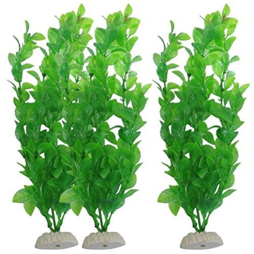 squarex 3tlg Aquarium Aquarium Fisch Tank Pflanzen Sockel Deko 27cm grün