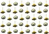 40 Stück Restposten Sonderangebot weißer BIO-Tee Teeblumen (1 Sorte) / Teerosen / Teeblüten / blooming tea / Erblühtee / Aufblühtee aus hochwertigem BIO-Weißtee by Feelino