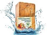 Grüne Valerie Originale Aleppo Seife mit 70/30% Lorbeeröl/Olivenöl - 200g + Haarwaschseife/Duschseife PH Wert 8 - Detox Eigenschaften - veganes Naturprodukt - Handarbeit - über 7 Jahre gereift!