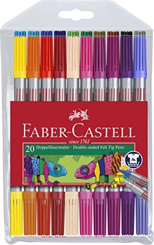 Faber-Castell 151119 Doppelfasermaler 20er Etui