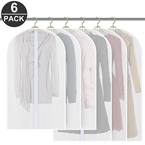 [6 Stück] Kleidersack,Mopoin 120 x 60 cm + 100 x 60 cm Kleidersäcke, Hochwertiger Anzugsack / Kleiderhülle aus atmungsaktivem Material - Erstklassiger Schutz Aufbewahrung für Anzüge und Kleider