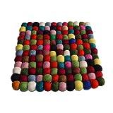 Maharanis Filz Untersetzer Topfuntersetzer bunt 22x22 cm handgefertigt reine Wolle, hitzebeständig
