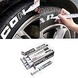 AITOCO Weiß Reifenfarbe Marker Pens 10 STÜCKE Wasserdichte Permanent Pen Fit für Auto Motorrad Reifenprofil Gummi Metall