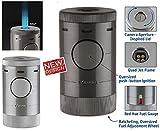 Xikar Tischfeuerzeug Volta Quad Jet-Flamme silber inkl. Lifestyle-Ambiente Tastingbogen