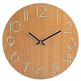 Wanduhr Vintage Lautlos, CT-Tribe 12 Zoll(30cm) Holz Wanduhr Retro Vintage Uhr Ohne Ticken Wall Clock Küchenwanduhr - 1