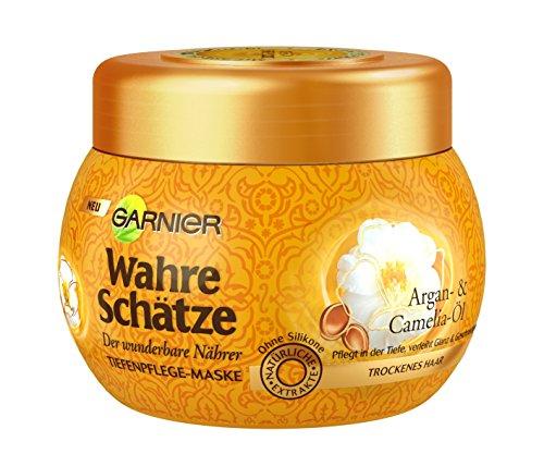 Garnier Wahre Schätze Haar-Maske, Haarkur für intensive Haarpflege, 1er Pack (1 x 300 ml)