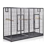 Montana Cages  | Vogelkäfig Melbourne 160 - Antik Doppelkäfig, Käfig XL, Voliere für Sittiche & Finken
