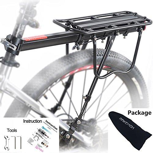 MAIKEHIGH Einstellbare Träger Fahrrad Gepäckträger Fahrradzubehör Ausrüstung Ständer Reitstock Fahrradträger Racks mit Reflektor