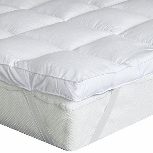 Bedecor Microfaser-Polyester-Matratzen-Auflage, Unterbett, Matratzen-Topper, üppig gefüllt, extra-weich, 140 x 200 cm