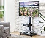 FITUEYES TV Wagen TV Ständer mit Rollen Fernseh Standfuß Fernsehtisch mit Halterung Drehbar höhenverstellbar 32 bis 65 Zoll LED LCD TV Plasma TT206505GB
