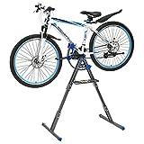 [pro.tec] Profi Fahrrad - Montageständer (dunkelgrau - blau) Reparaturständer Winkel verstellbar