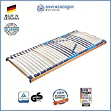 RAVENSBERGER MEDITOP 30-Leisten-Buche-Lattenrahmen | 5-Zonen-Buche-Lattenrahmen | Starr | MADE IN GERMANY - 10 JAHRE GARANTIE | TÜV/GS+LGA/QS - zertifiziert 90x200 cm