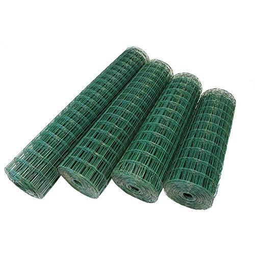 Top-Multi Maschendrahtzaun Wildzaun Gartenzaun PVC-beschichtet GRÜN 76mm x 63mm x 1,0m x 10,0m