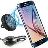 KFZ Set für Samsung Galaxy S9 / S9 Plus / S8 / S8 Plus / A3 2017 / A5 2017 / scozzi Magnethalterung für die Lüftung im Auto + passendes KFZ Ladekabel