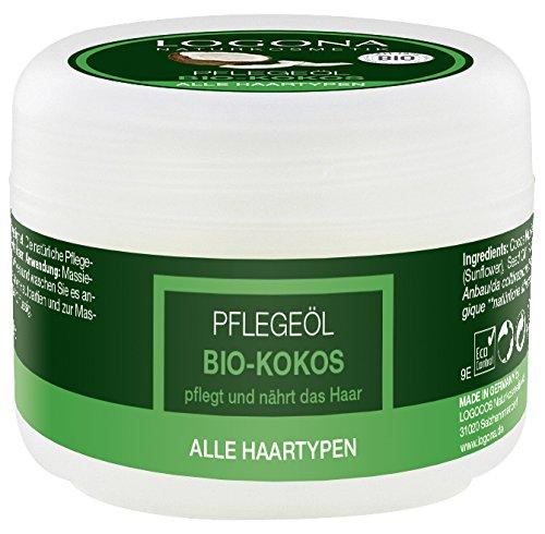 LOGONA Naturkosmetik Pflegeöl Bio-Kokos, Für alle Haartypen geeignet, Pflegt und nährt das Haar, Vegan, 45 ml