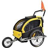 Kinderanhänger mit Jogger Fahrradanhänger Anhänger 2 in1 502-04