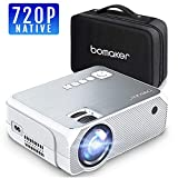 BOMAKER Beamer Native 720P Auflösung 3600 Lumen mit tragbarer Tasche,LED Videoprojektor,Verbindung mit HDMI VGA SD USB AV Gerät, Heimkino -Grau