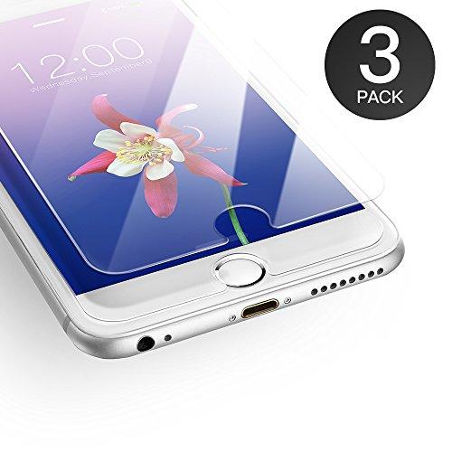 AXHKIO Panzerglas Kompatibel mit iPhone 6/ iPhone 6s Schutzfolie 3D-Ebene Ultra-klar 9H Härte Panzerglasfolie (4,7 Zoll)-0,25mm, Anti-Öl, Anti-Kratzen, Anti-Bläschen