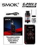 Ovuul SMOK G-PRIV 2 Kit 230W mit 2ml Tank TPD ohne Nikotin(Schwarz Rot)