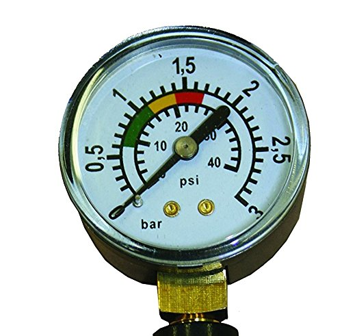 well2wellness Pool Manometer / Wasser Druckmesser 1/8 Zoll