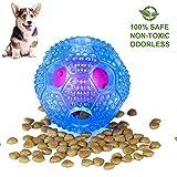 Dalmit Hundespielzeug Hundebälle Interaktive, Futterball für Hunde Snackball Wurfball,Zahnreinigung Ball,Langlebig aus Naturkautschuk,für Kleine Mittlere Große Hunde (Blau)