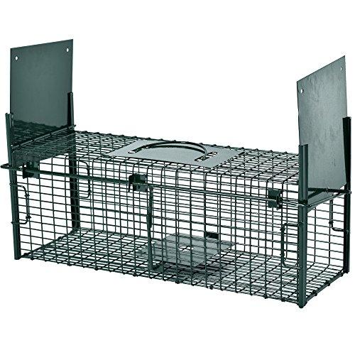 PROHEIM Lebendfalle Secure-M 64 cm - zuverlässige & sichere Tierfalle mit 2 Eingängen - Sofort einsatzbereit & Wetterfest - Marderfalle mit Bissschutz - ideal für Marder, Kaninchen, Katzen, Ratten
