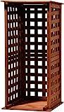 dobar 29097FSC Kaminholzregal aus Holz für innen und außen im Garten, braun, 39 x 39 x 85 cm
