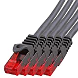 BIGtec - 5 Stück - 1,5m Gigabit Netzwerkkabel Patchkabel Ethernet LAN DSL Patch Kabel schwarz ( 2x RJ-45 Anschluß , CAT.5e , kompatibel zu CAT.6 CAT.6a CAT.7 ) 1,5 Meter
