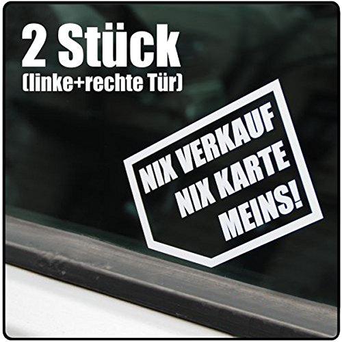 Nix verkaufen, nix Karte, Meins! 12,5 x 10 cm IN 15 FARBEN - Neon + Chrom! Sticker Aufkleber