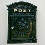 Antikas - Briefkasten Postkasten, Nostalgie Wandbriefkasten, englisch-antik Alu rostfrei