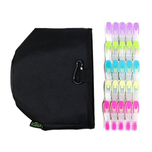 SOHFA Wäscheklammer - Wäscheklammern 50 Stück - Klammern aus stabilem Kunststoff