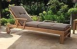 Auflage Sand zu Gartenliege Liegestuhl Sonnenliege Relaxliege Polster