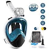 Glymnis Tauchmaske Schnorchelmaske Easybreath Faltbare Vollmaske mit 180° Sichtfeld Anti-Fog und Anti-Leck Technologie für Alle Erwachsene und Kinder L/XL (Verpackung MEHRWEG)