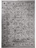 benuta Vintage Teppich im Used-Look Velvet Grau 120x170 cm | Moderner Teppich für Schlafzimmer und Wohnzimmer