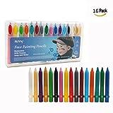 Cisixin 16 Farbige Gesicht Malstifte Body Paint Stifte Sticks für Halloween Karneval Maskenspiel Make Up Schminke Palette Gesichtsfarbe Bodypaint Bodypainting