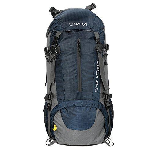 Lixada Trekkingrucksack Wanderrucksack Reiserucksack 45L+5L Wasserabweisend mit Regen Abdeckung