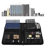 FLOWood 40 Stück Skizze Bleistift Set,Bleistifte Skizzierstifte Set mit Werkzeuge,Professionelle Skizzierstifte Set für Profis und Anfänger