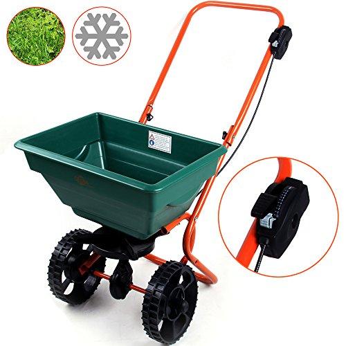 Streuwagen  Modellauswahl  25L  Streubreite einstellbar  praktische Abstellfüße - Saatgutstreuer Düngerstreuer für Salz Dünger Rasen Split Saatgut