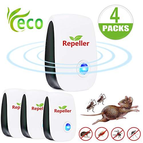 EGEYI Ultraschall Schädlingsbekämpfer, Elektronisches Insektenschutzmittel Indoor Schädlingsbekämpfung Insektenschutzmittel gegen Mücken Ratten Spinnen Kakerlaken und Fliegen