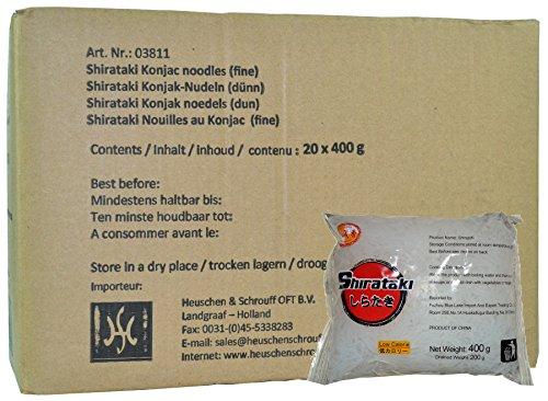 City Aroma - Shirataki schmal - Konjak Spaghetti - 20er Pack (20 x 400g / ATG 200g) - 1 Karton