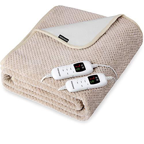 Wärmeunterbett 160x140 cm 3-lagig Komfort 7 Heizstufen Abschaltfunktion waschbar Double 2 Controller