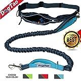 DogTao • Jogging Hundeleine mit  Laufgürtel - ANTI-SHOCK Starke Elastische Freihand Joggingleine für Große und Kleine Hunde | Reflektierende Laufleine mit Bauchgurt