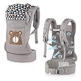 GAGAKU Ergonomische Trage Babytrage für Baby, Lightweight Kindertrage mit Mesh Atmungsaktiv für Kinder ab 4 Monate (5.5-15 kg)