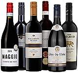 Rotwein-Set 'Die besten für jeden Tag' | 6 Flaschen Wein (trocken) aus Frankreich, Italien, Spanien, Deutschland, Kalifornien | Als Geschenk-Paket oder für den persönlichen Wein-Genuss