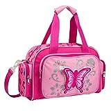 STEFANO Kinder Reisegepäck Schmetterling pink rosa --präsentiert von RabamtaGO-- (Reisetasche)