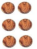 6 Stück Neustanlo Grillteller/Brotzeitbrettchen Ø 25 cm aus Akazien Holz