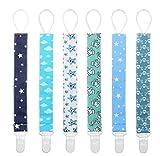 Schnullband Baby Schnullerketten Nuckelketten Junge Mädchen für Schnur Lätzchen Dreieckstuch mit Clips Baumwolle YOOFOSS