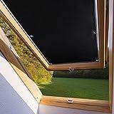 Dachfensterrollo für Velux Dachfenster M06 306 60 * 93cm verdunkelndes Rollo mit Versilberte Rückseite ohne Bohren mit Säugnapf Verdunkelungsrollo aus Polyester
